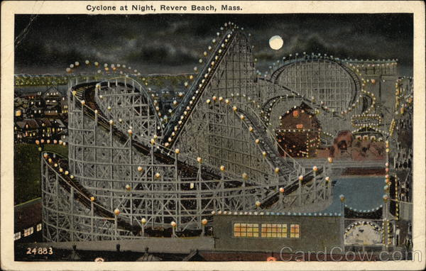 Cyclone at Night Revere Beach Massachusetts
