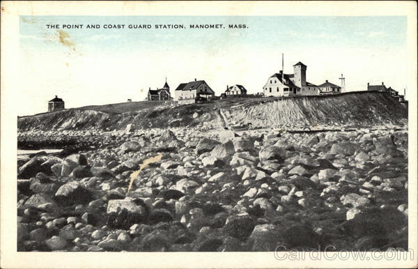 The Point And Coast Guard Station Manomet Ma Postcard