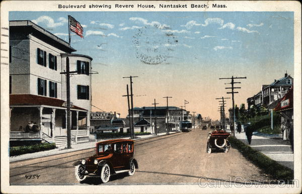 Boulevard showing Revere House Nantasket Beach Massachusetts