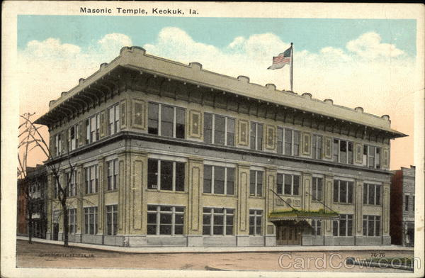 Masonic Temple Keokuk Iowa Freemasonry
