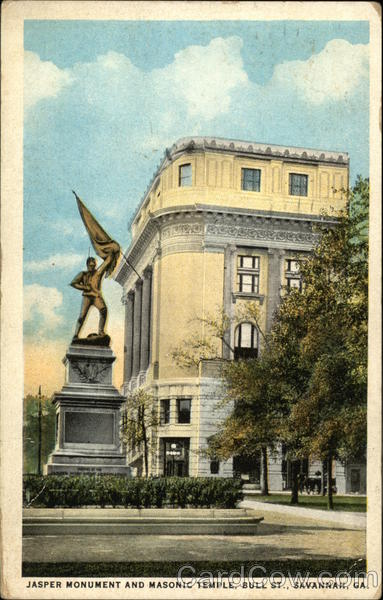 Jasper Monument and Masonic Temple Savannah Georgia