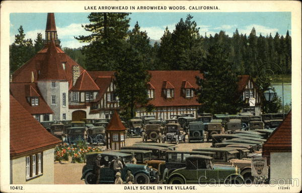 Arrowhead Woods Daily Scene in the Village Lake Arrowhead California