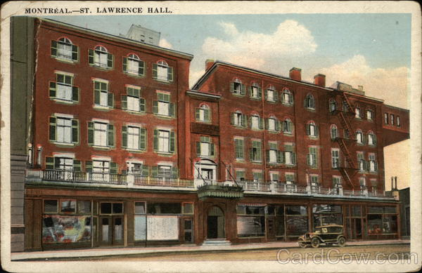 St. Lawrence Hall Montreal Canada Quebec