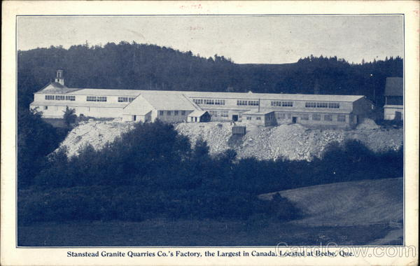 Stanstead Granite Quarries Co's Factory Beebe Canada
