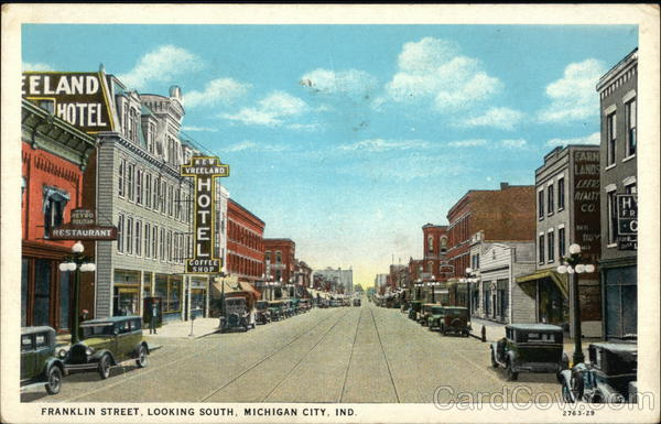 Franklin Street, Looking South Michigan City Indiana
