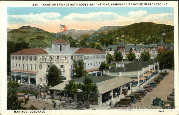 Manitou Springs Bath House and the Pike Colorado