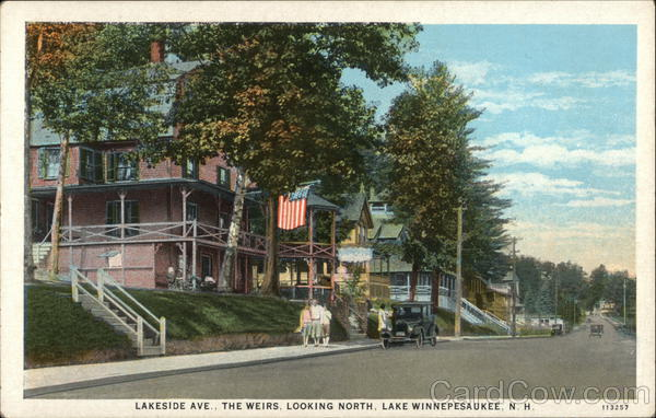 Lakeside Ave., The Weirs, Looking North Laconia New Hampshire