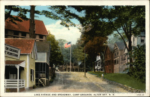 Lake Avenue and Broadway, Camp Grounds Alton Bay New Hampshire