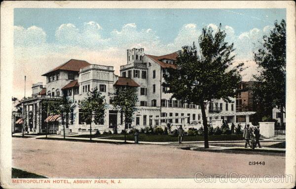 metropolitan hotel asbury park nj postcard. Black Bedroom Furniture Sets. Home Design Ideas