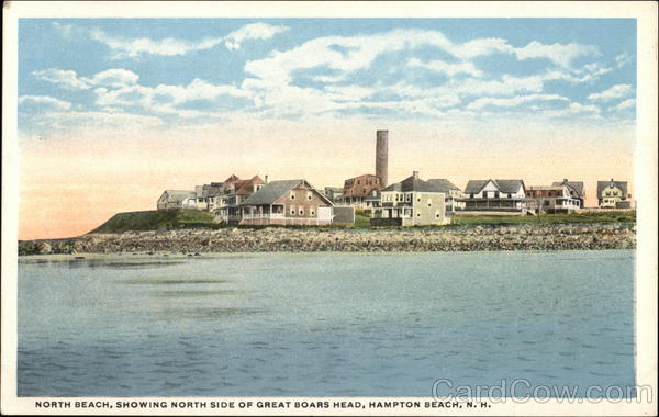 North Beach showing North Side of Great Boar's Head Hampton Beach New Hampshire