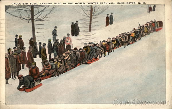 Uncle Sam Sled, Largest Sled in the World Manchester New Hampshire