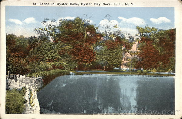 Scene in Oyster Cove Oyster Bay Cove New York