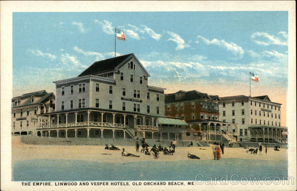 The Empire, Linwood and Vesper Hotels Old Orchard Beach Maine
