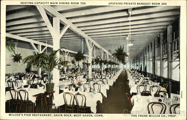 Wilcox S Pier Restaurant At Savin Rock West Haven Ct Postcard