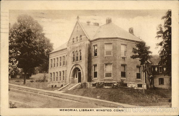 Memorial Library Winsted Connecticut