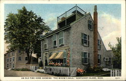 "An Old Time Home Showing ""The Widow's Walk"""