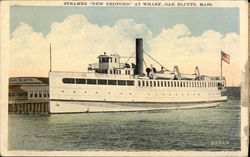 "Steamer ""New Bedford"" at Wharf"