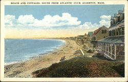 Beach and Cottages, South from Atlantic Club