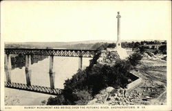 Rumsey Monument and Bridge Over the Potomac River