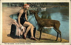 Woman and Deer
