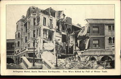 Arlington Hotel, Santa Barbara Earthquake