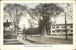 A Bit of South Main Street Postcard