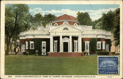 South View Monticello, Home of Thomas Jefferson
