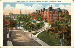 High School and City Hall, Central Hill Park