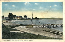 Clark's Dock and Niantic River