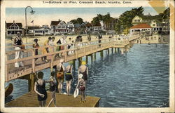 Bathers on Pier, Crescent Beach