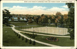 Bird's Eye View of Cummings Park and Tennis Court