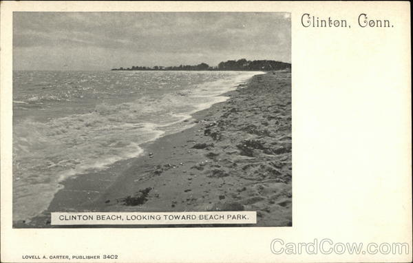Clinton Beach, Looking Toward Beach Park. Connecticut