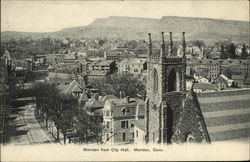 Meriden from City Hall Postcard