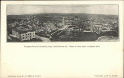 Panoramic View of Naugatuck From Fairview Avenue