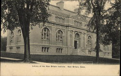 Library of the New Britain Institute Postcard