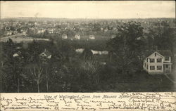 View of Wallingford, Conn. from Masonic Home