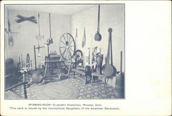 Spinning-Room - Ellsworth Homestead Postcard