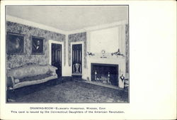 Drawing-Room - Ellsworth Homestead Postcard