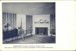 Dining-Room - Ellsworth Homestead Postcard