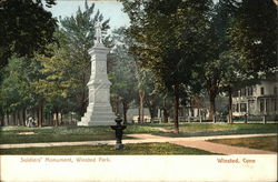 Soldiers' Monument, Winsted Park