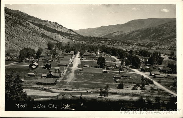 Aerial View of Town Lake City Colorado