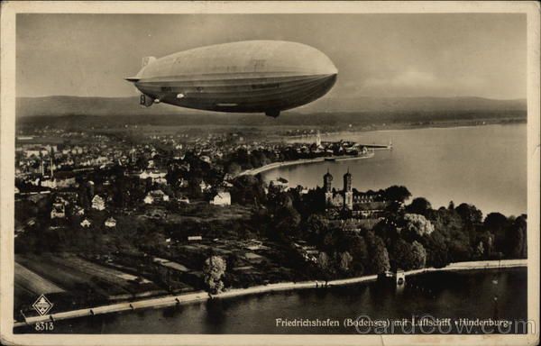The Hindenburg over Lake Constance Friedrichshafen Germany