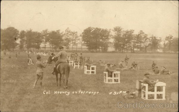 1917 Col. John W. Heavey on the range World War I