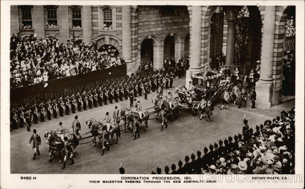 Coronation Procession 1911 and Admiralty Arch London England