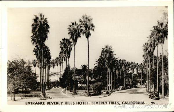 Entrance Beverly Hills Hotel California