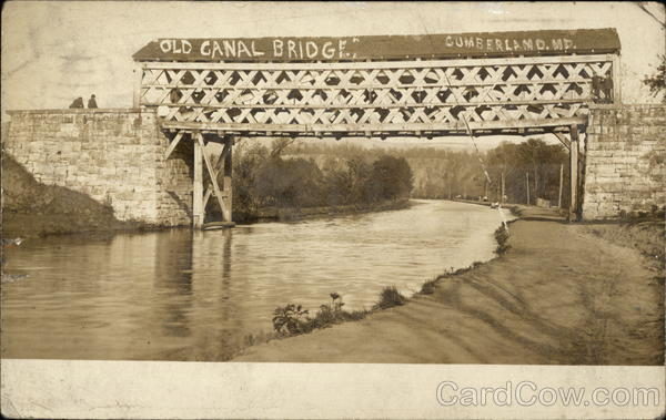 Water View of Old Canal Bridge Cumberland Maryland