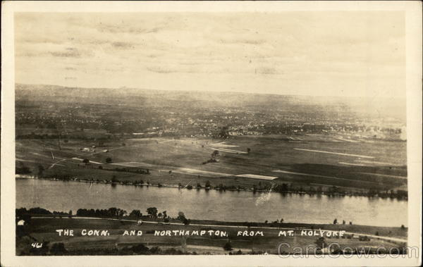 Connecticut River and Northampton from Mt. Holyoke Massachusetts