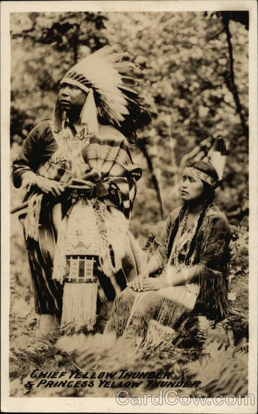 Chief Yellow Thunder and Princess Yellow Thunder Native Americana