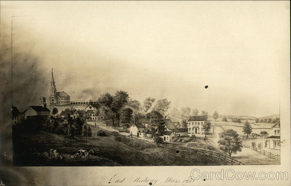 Old View of Town Medway Massachusetts