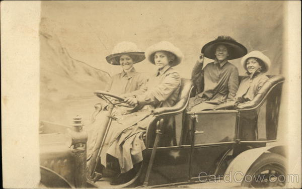 Photo of Four Women in Car Milford Connecticut